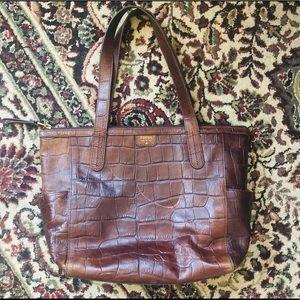 Fossil alligator leather purse